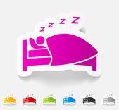 Realistic design element, sleep