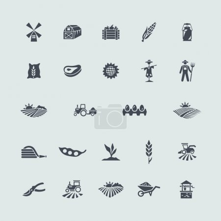 Illustration for Set of agriculture icons. Vector illustration - Royalty Free Image