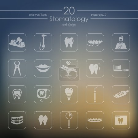 Set of stomatology icons