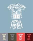 Football clothing icon