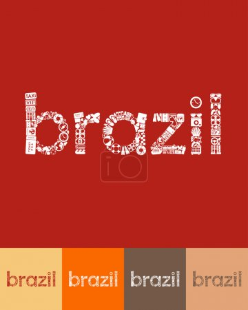 Brazil shaped icon