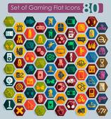 Set of gaming icons