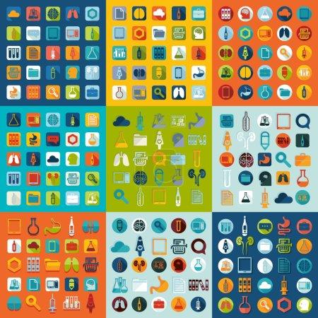 Illustration for Set of medicine icons design - Royalty Free Image