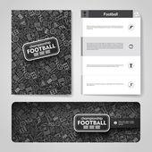 hand drawn doodles football theme