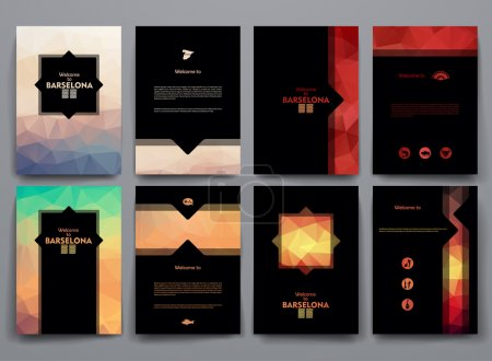 templates with poligonal backgrounds