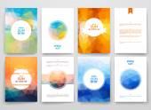 Set of brochures in poligonal style
