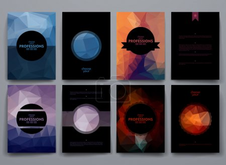 Set of brochures on professions theme