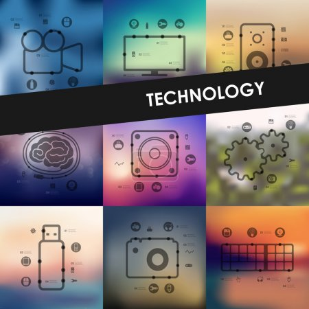 technology timeline infographics
