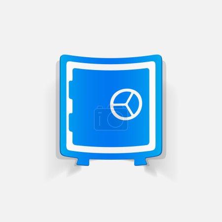Realistic design element: safe icon. Vector illust...