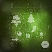 Vánoční infographic s ikonami