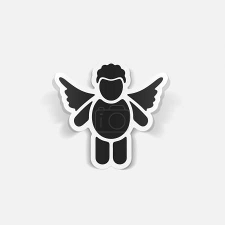 Illustration for Realistic design element: angel icon. Vector illustration - Royalty Free Image