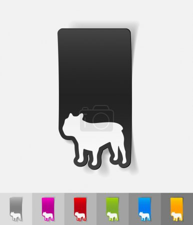 french bulldog paper sticker