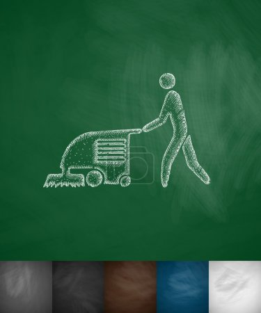 machine for cleaning floors icon