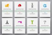 templates set with construction doodles