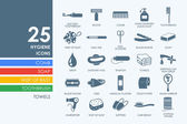 Hygiene vector set of modern simple icons in vector
