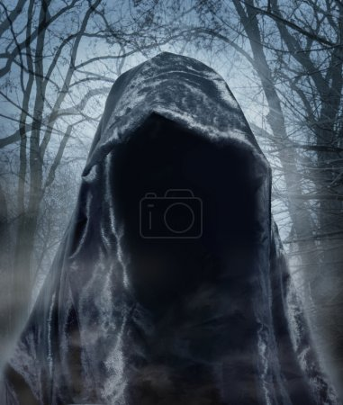 Photo for The angel of death. Demon of darkness. Photomanipulation - Royalty Free Image