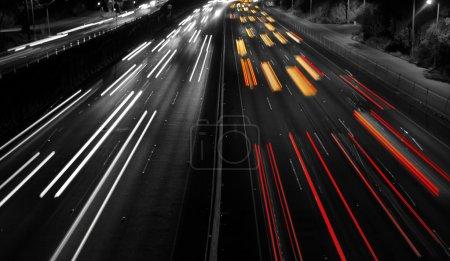 Highway Traffic at night