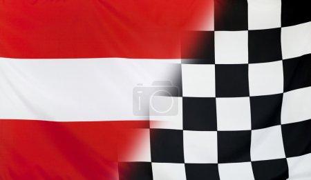 Winner Concept Austria and checkered goal flag