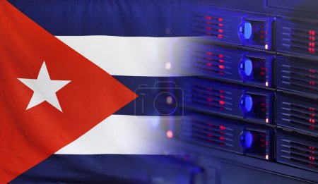 Technology Concept with Flag of Cuba