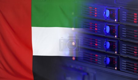Technology Concept with Flag of UAE
