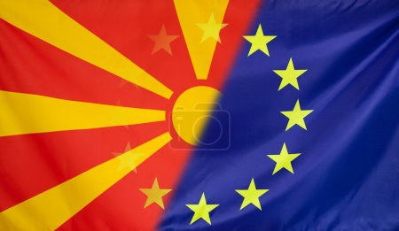 European Flag merged with Flag of Macedonia