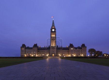 Ottawa Parliament twilight