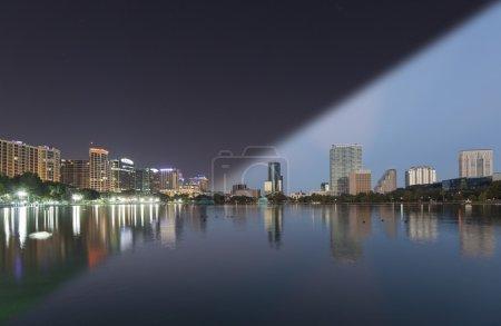 Orlando Skyline twilight transition