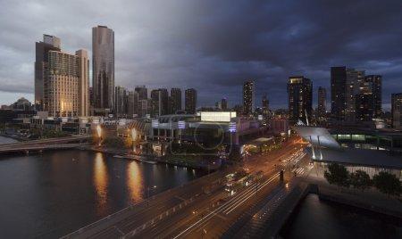 Melbourne sunset twilight transition