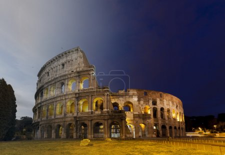 Colosseum Rome sunset and twilight