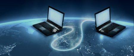 World wide web optical fiber connection