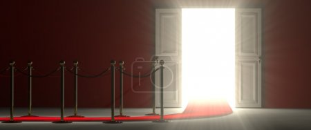 White open door - an easy way to success