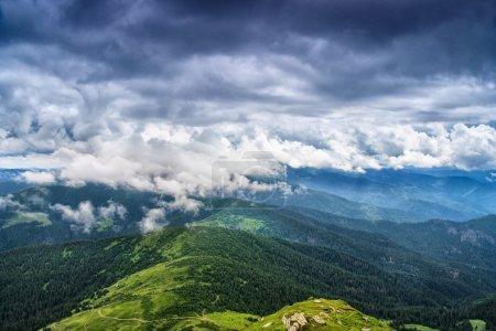 Cloudy sky over Chornohora ridge