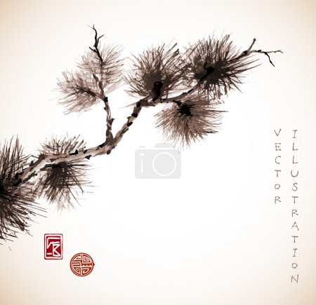 Pine tree branch in Japanese style