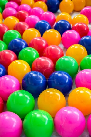 Colorful balls in room