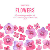 Beautiful background pattern with watercolor flowers Vector illustration