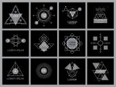 Futuristic Geometric Hipster Elements and Logos
