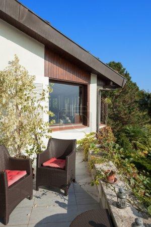 veranda of a mountain home