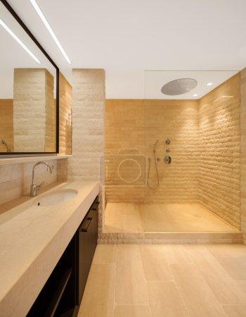 современная архитектура, новая пустая квартира, ванная комната