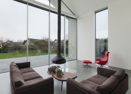 Photo for Interior of a beautiful modern house, living room - Royalty Free Image