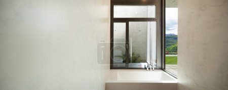 modern bathroom with window