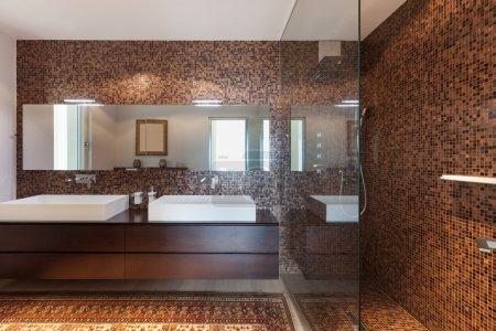 Interiors of new apartment, bathroom
