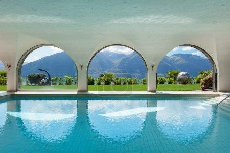 swimming pool of a villa, interior