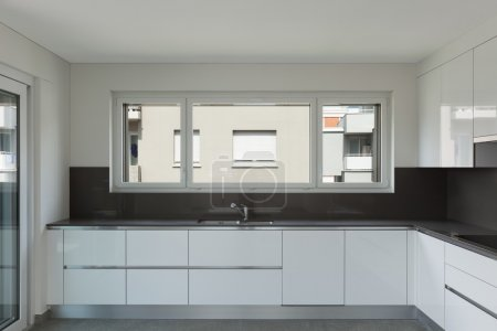Photo for Interior of empty apartment, modern kitchen - Royalty Free Image
