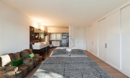 Modern house, bedroom