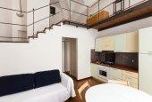 Příjemný obývací pokoj s kuchyní