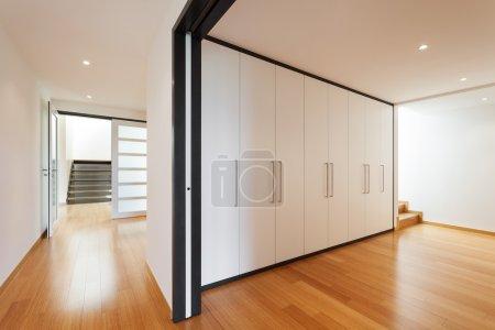 Interior, corridor with wardrobes
