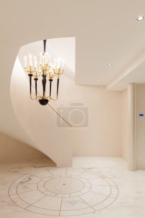 Interior with marble floor and stairs