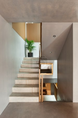 Photo for Modern house, interior, staircase view - Royalty Free Image