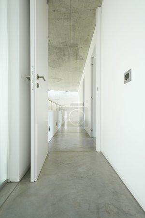 Long white corridor