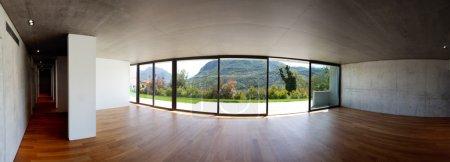 Modern interior home panoramic